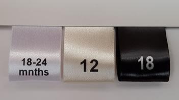 garment label size tab label