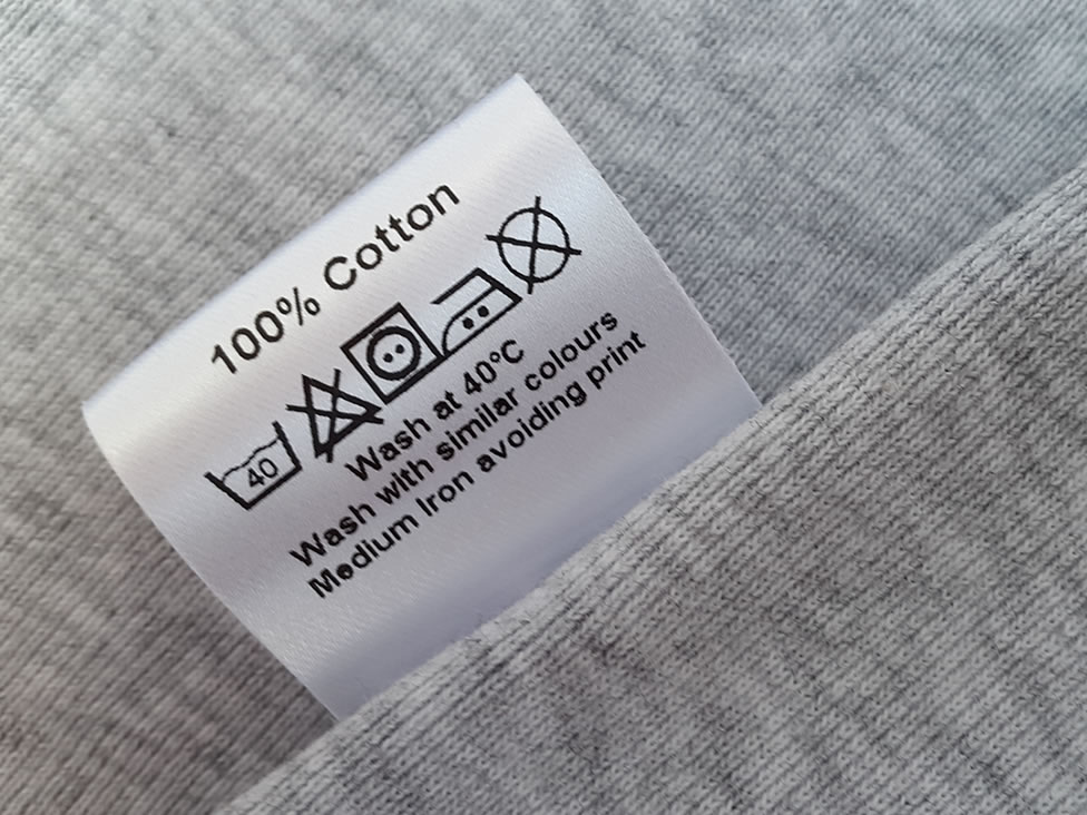 garment labels care and content labels