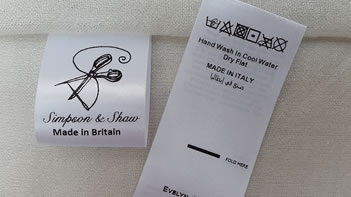 Made in Britain clothing garment labels