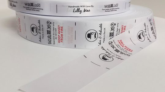 Care labels for clothes - labels on roll