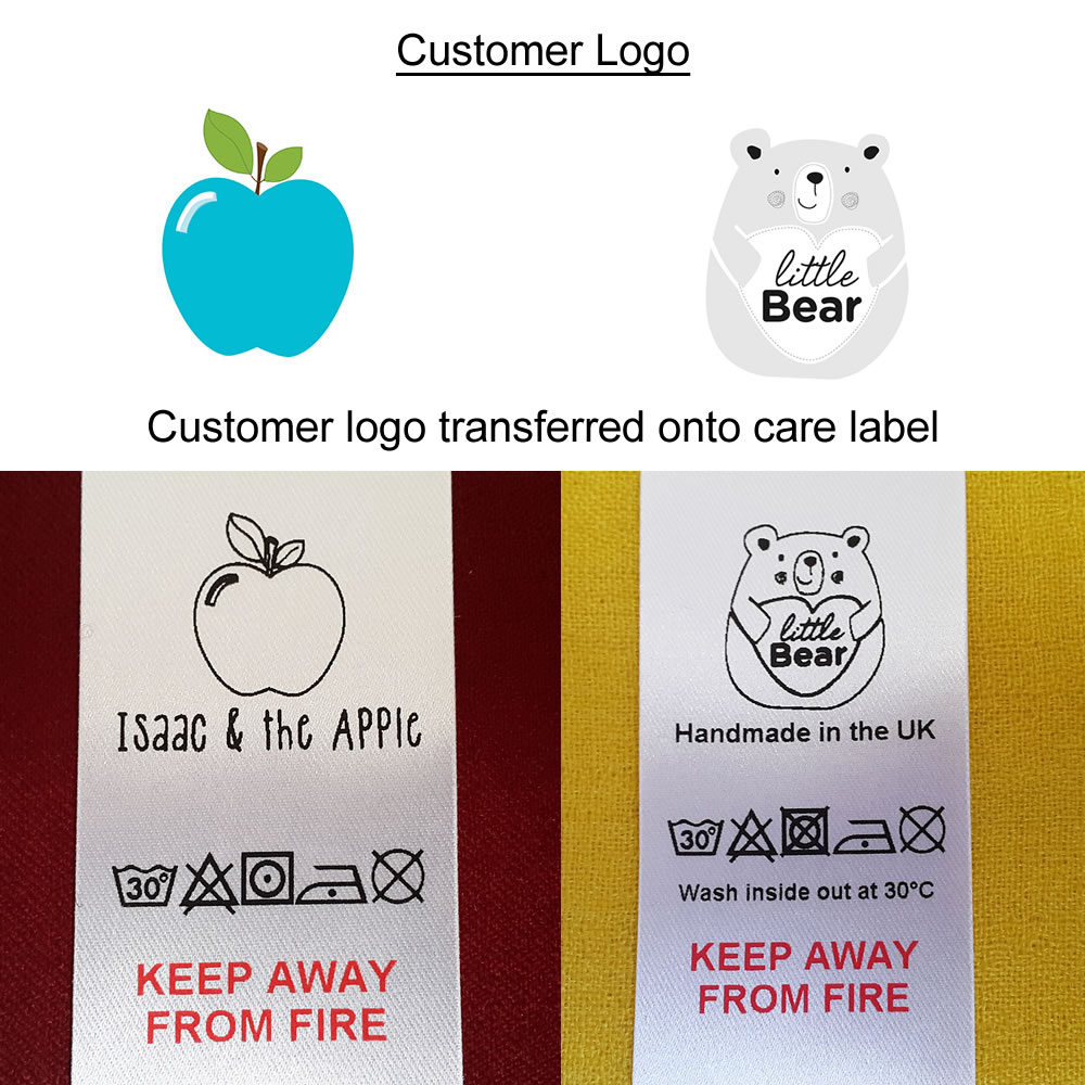 examples of care labels printed