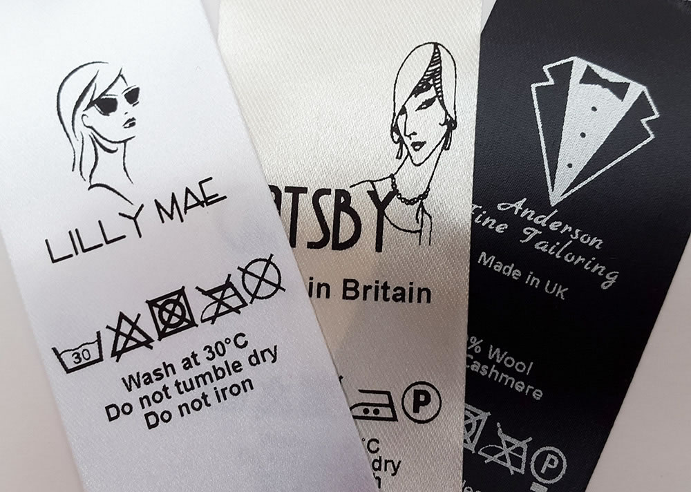 Sew on labels uk - 3 fabric colours