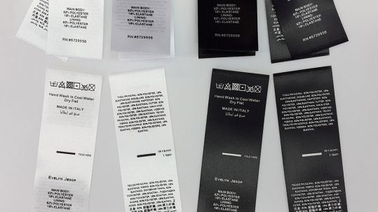 Fabric Care Labels UK